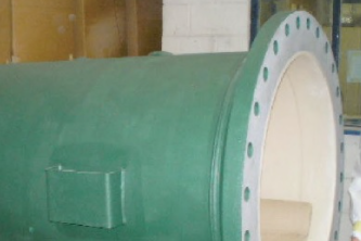 CC032: Coating of a coarse water filter vessel